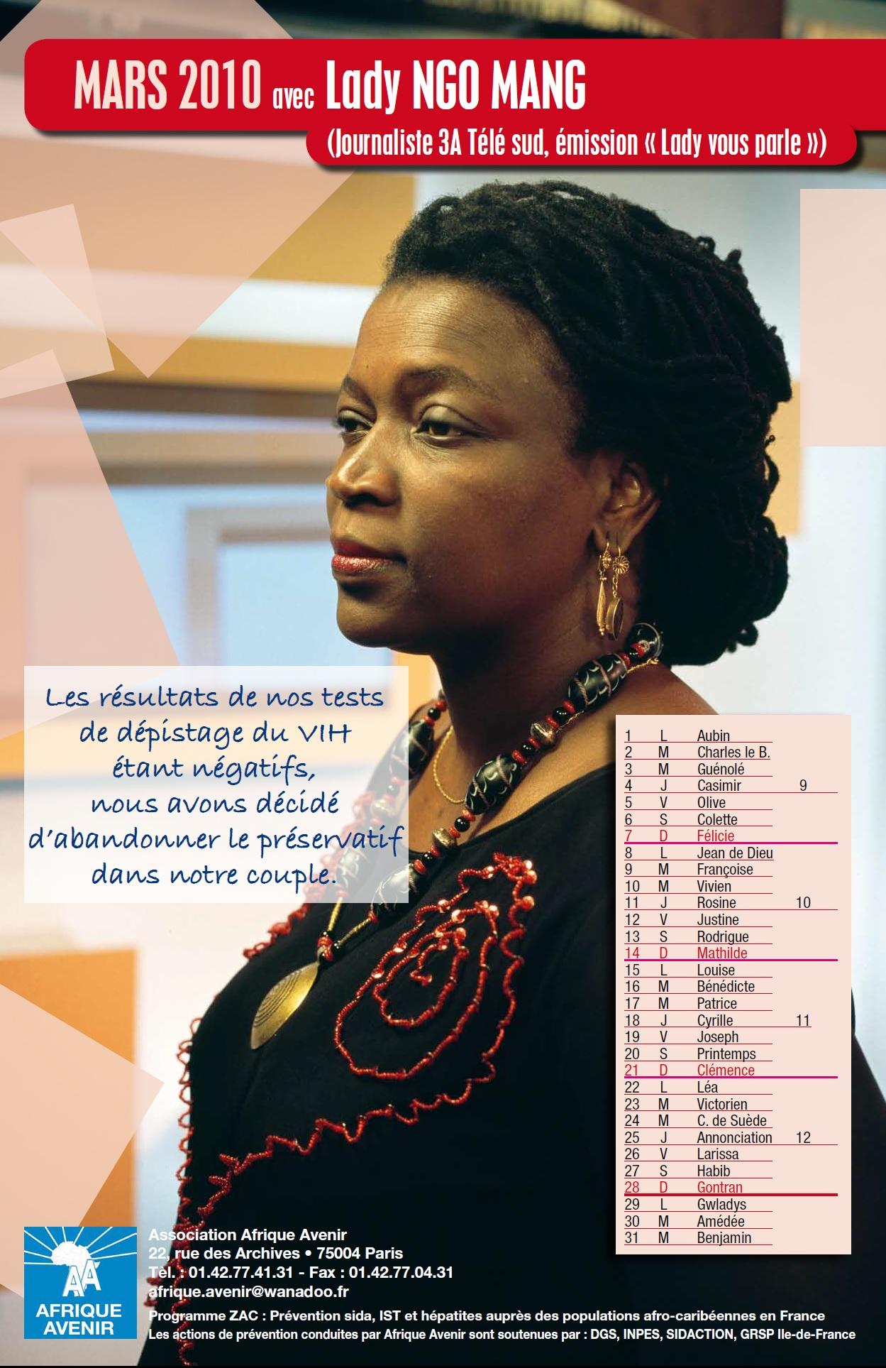Contre le VIH/Sida avec LADY NGOMANG