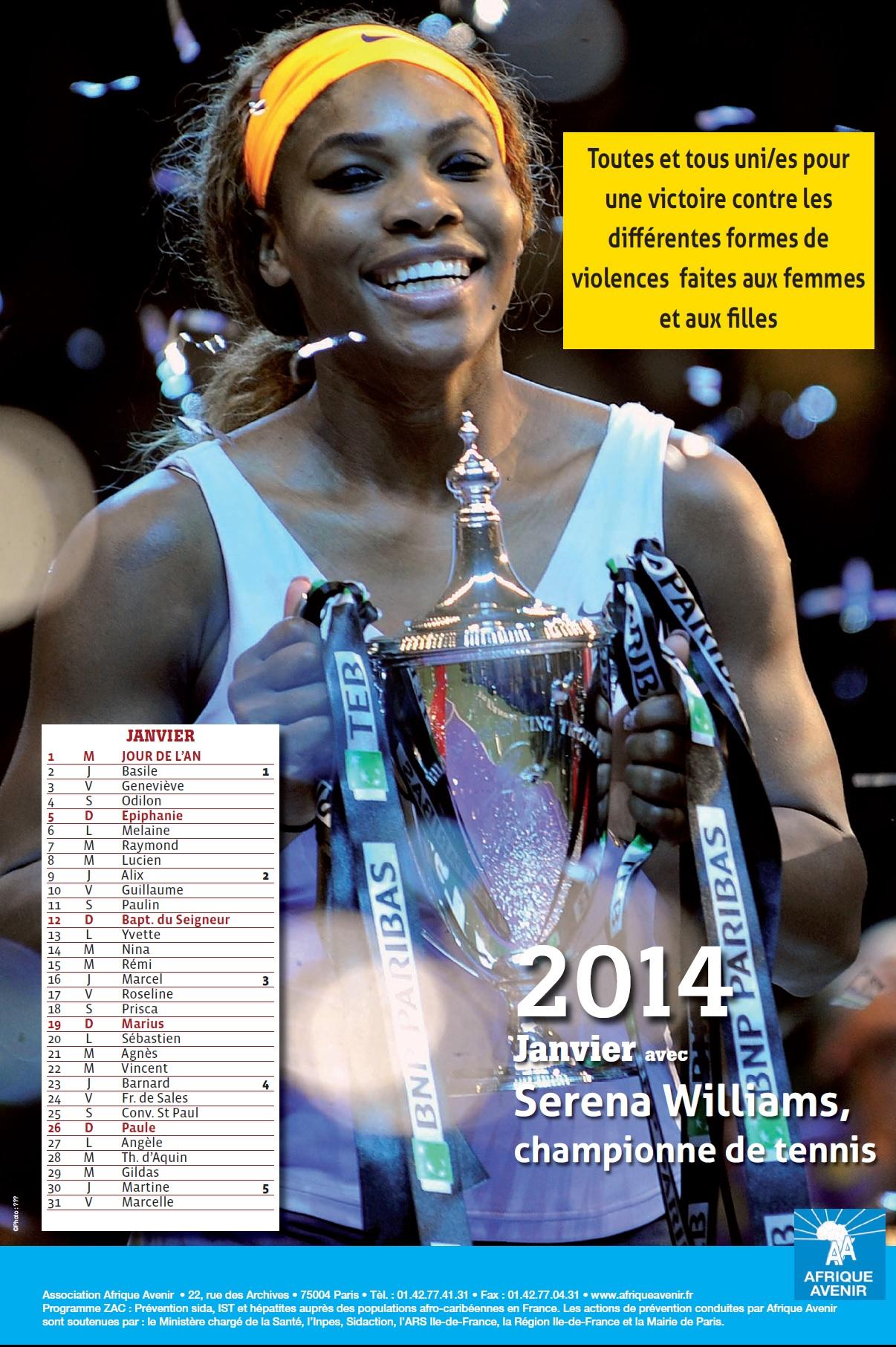 Calendrier 2014: Pour l'égalité des droits entre les Hommes et les Femmes
