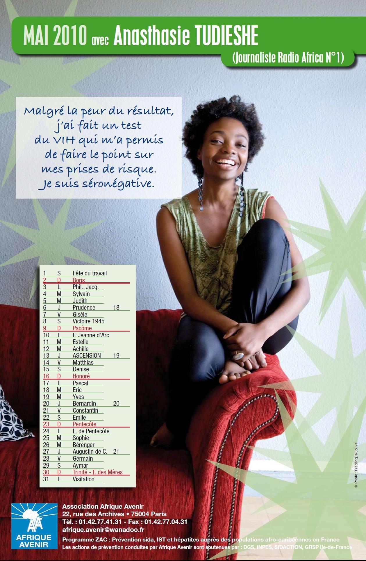 Contre le VIH/Sida avec Anasthasie TUDIESHE