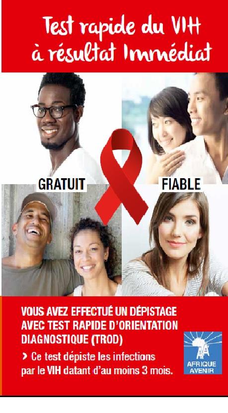 Dépliant test rapide VIH avec résultat immédiat