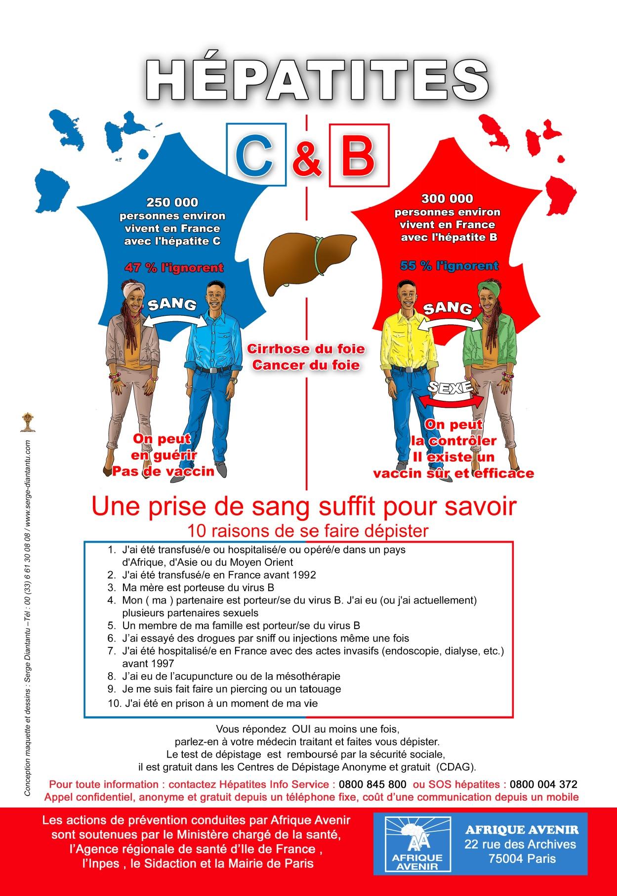 10 RAISONS POUR FAIRE UN DEPISTAGE DES HEPATITES B ET C