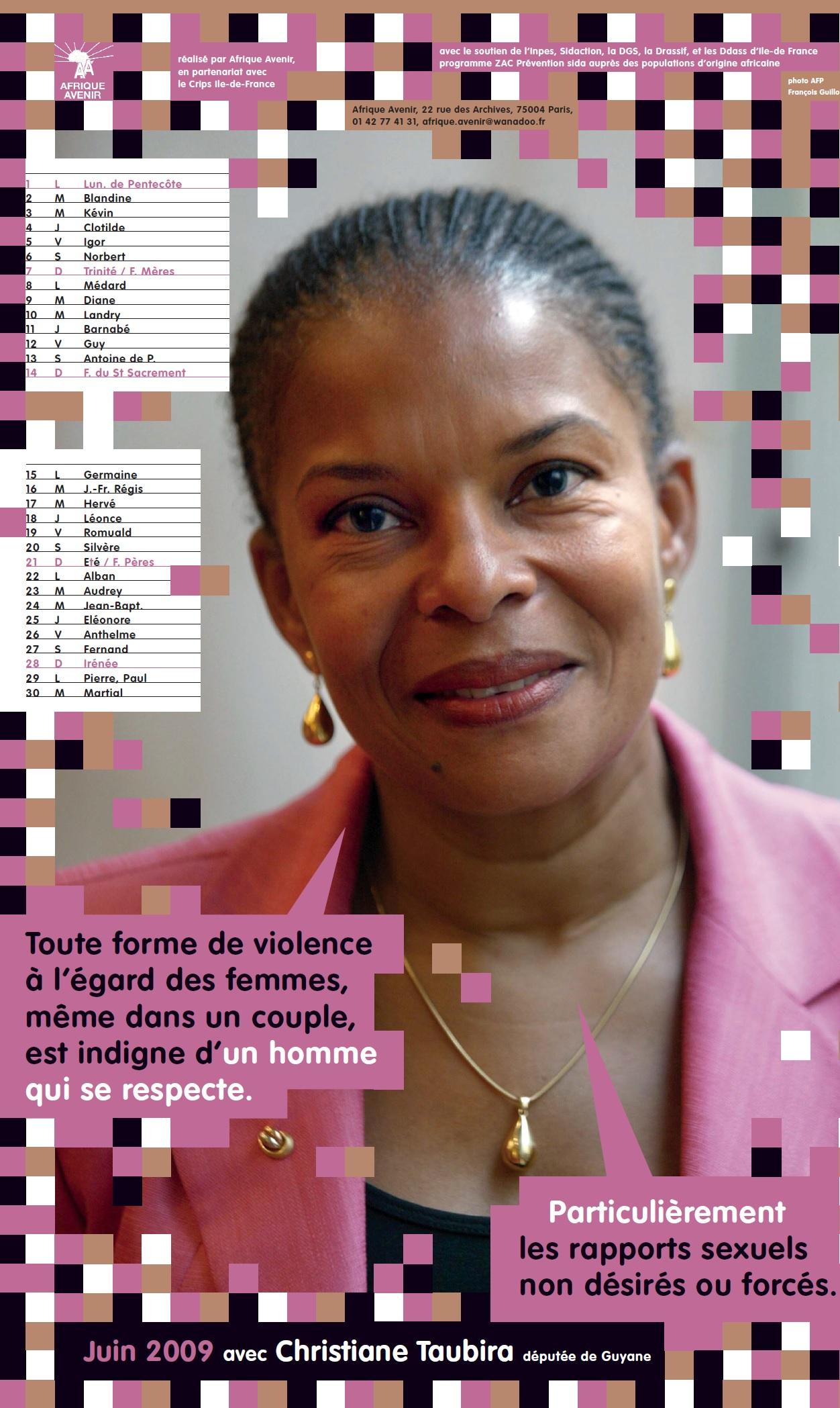 Contre le VIH/SIDA avec Christiane TAUBIRA