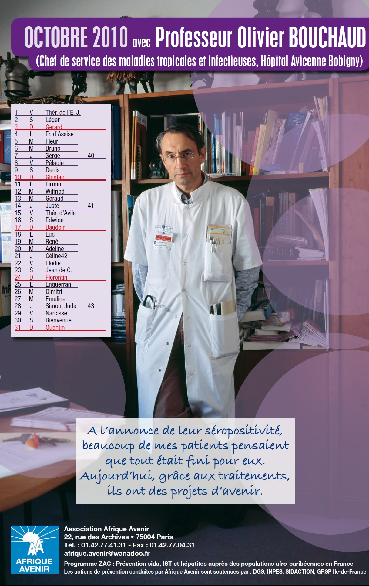 Contre le VIH/Sida avec le Professeur Olivier BOUCHAUD