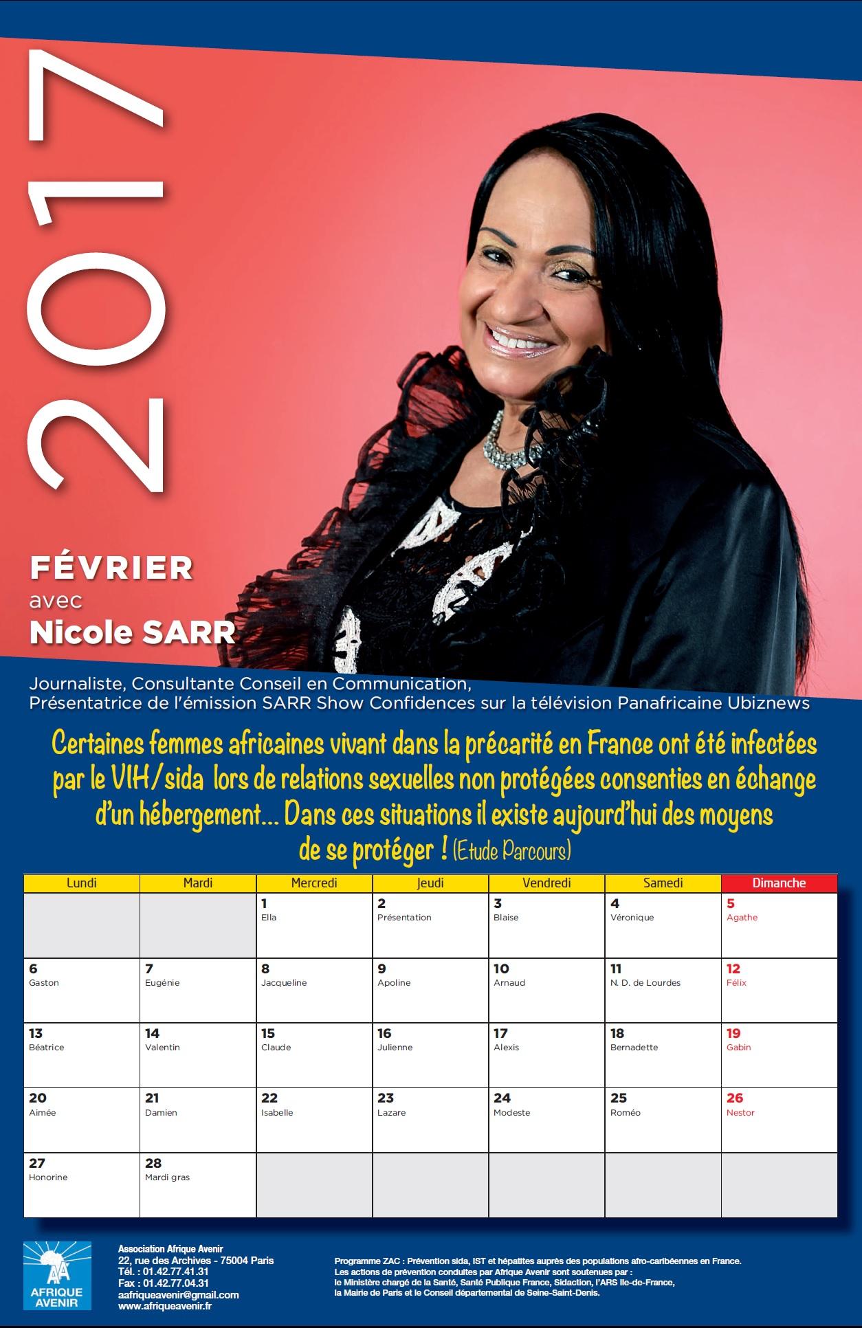 calendrier 2017: ETUDE PARCOURS, PREVENTION  DIVERSIFIEE