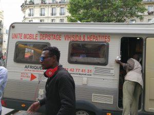 Accueil dans l'Unité mobile